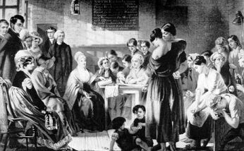 Elizabeth Fry reading to prisoners