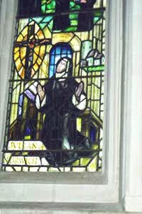 [Mother Julian pane at Norwich Cathedral]